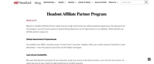 Headout Affiliate Program