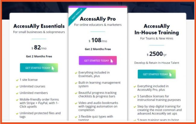AccessAlly Pricing