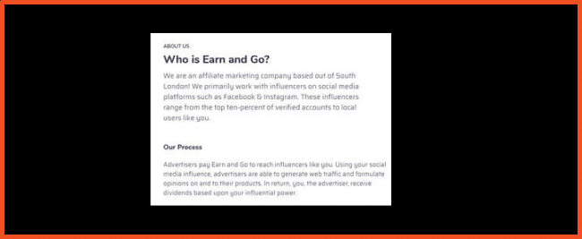 Earn and Go About Page