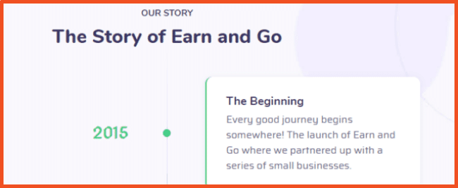 Earn and Go Story