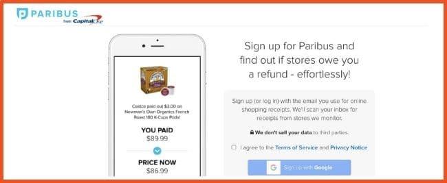Cashback Apps - Paribus