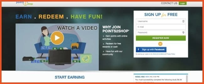 Get paid to read emails - Points2shop