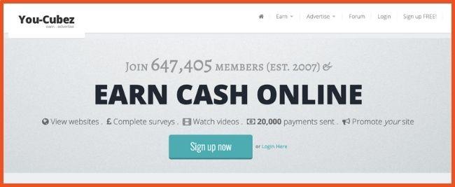 Make money watching videos - YouCubez
