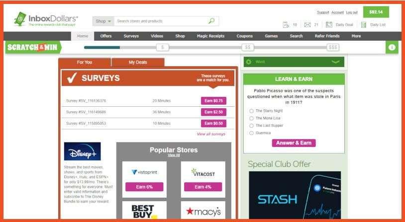 sites like swagbucks - InboxDollars