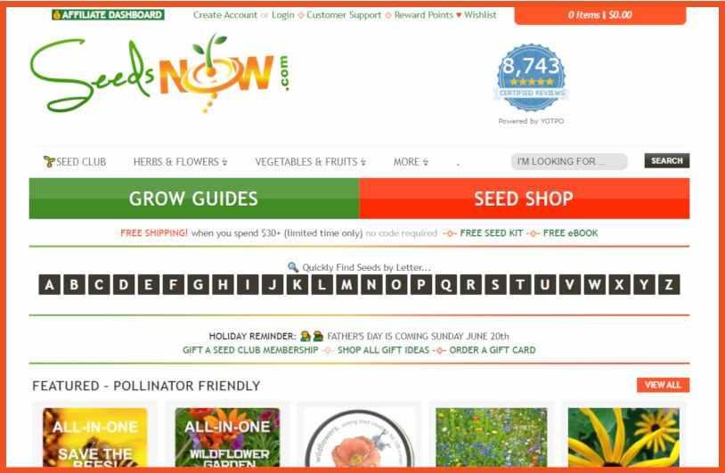 Gardening Affiliate Programs - SeedsNow Affiliate Program