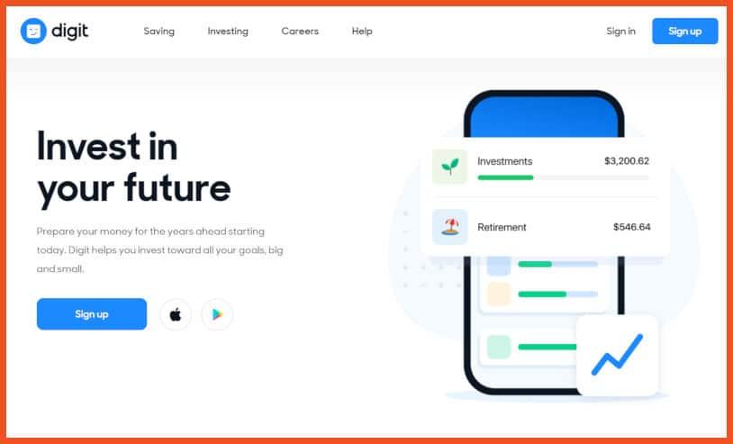 passive income apps - Digit