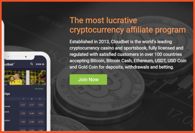 Cloudbet Casino Affiliate Program