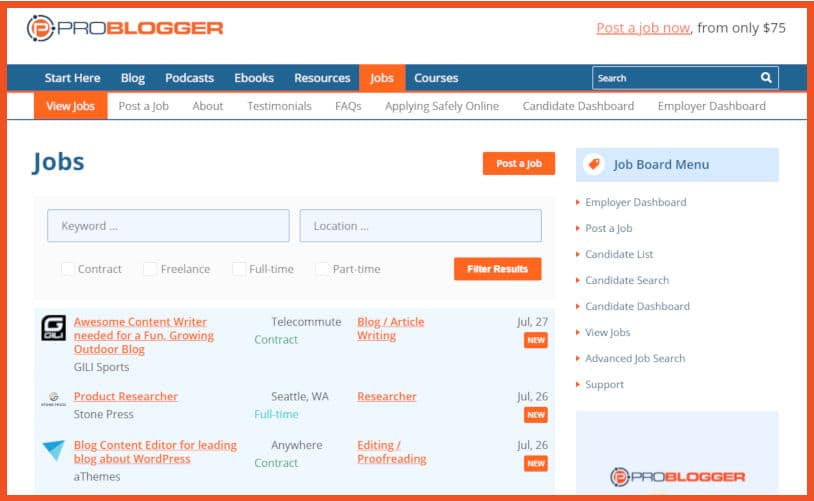 Best Job Boards for New Freelance Writers
