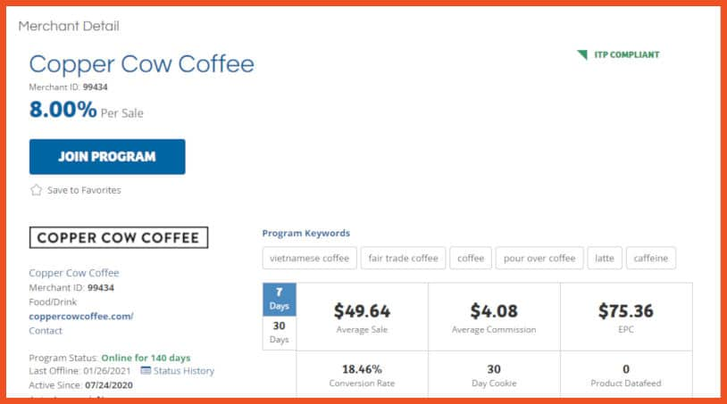 Coffee Affiliate Programs - Copper Cow Coffee Affiliate Program