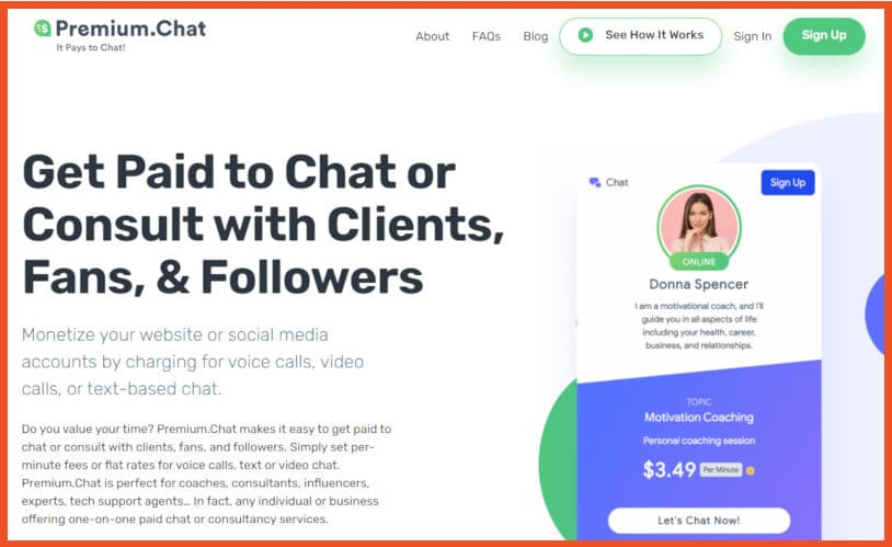 Get Paid to Text - Premium.chat