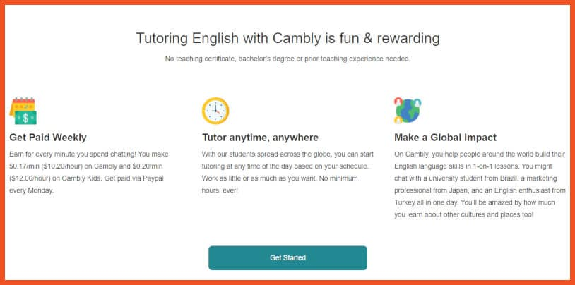 Sites to Teach English - Cambly