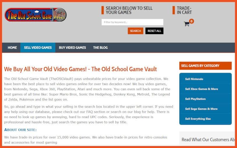 The Old School Game Vault