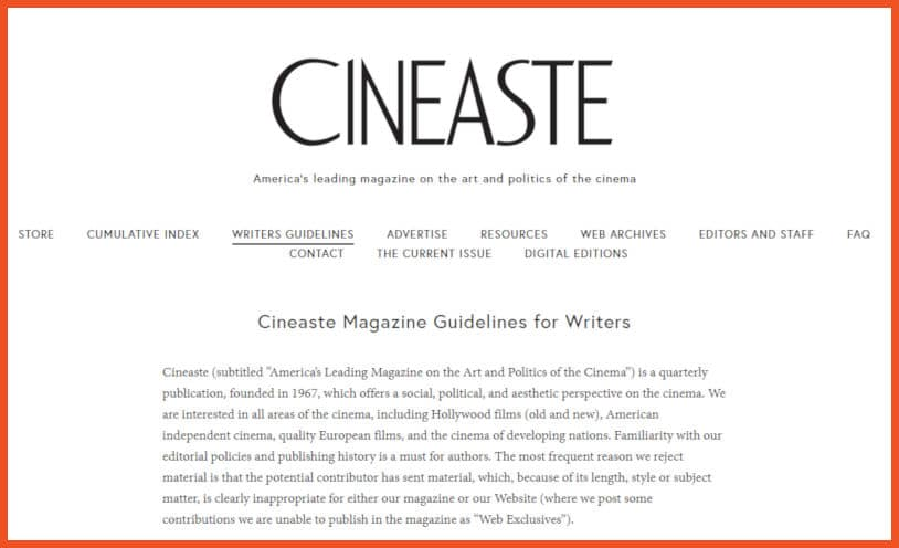 Get Paid to Review Movies - Cineaste