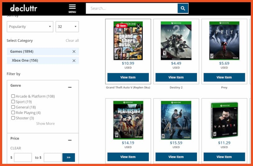 Sell video games online - Decluttr