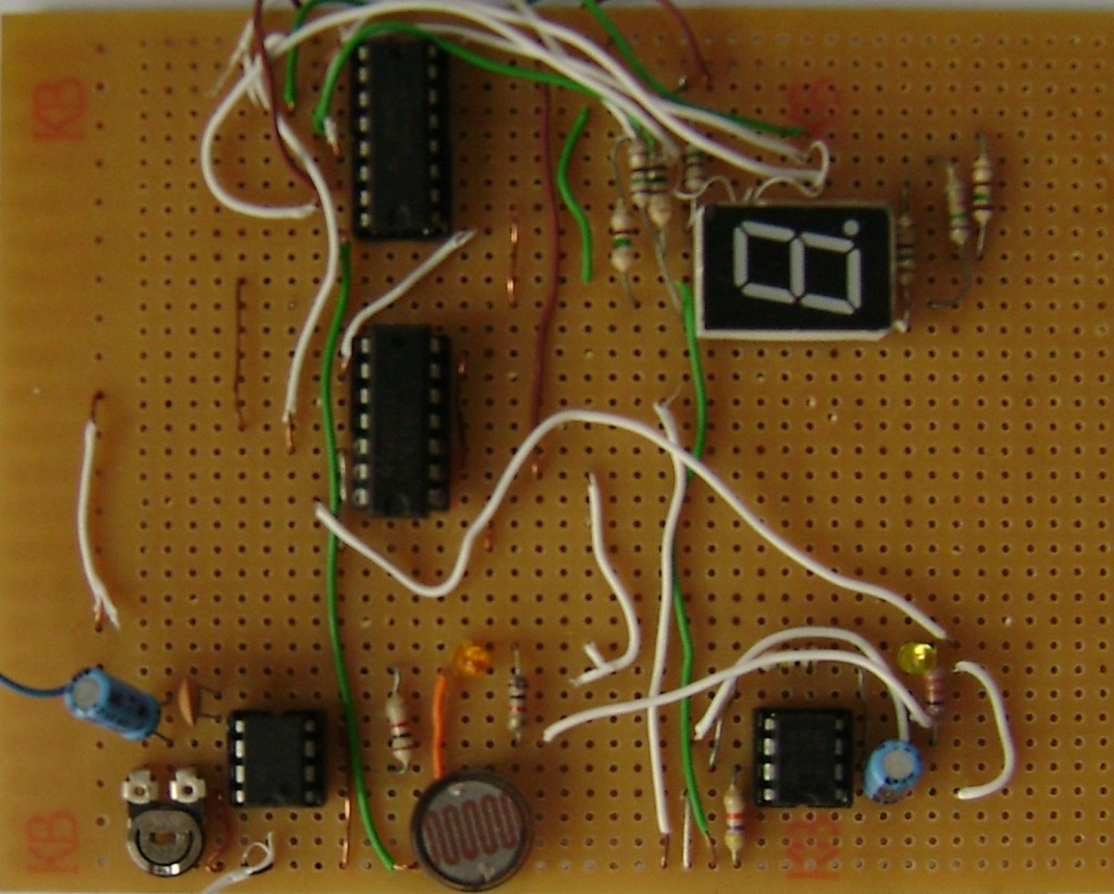 decade counter circuit diagram using 7490 vdo tachograph wiring digital object ldr and ic