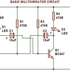 Led Strobe Light Circuit Diagram Ryobi Ss30 Fuel Line Multivibrator | Buildcircuit - Electronics