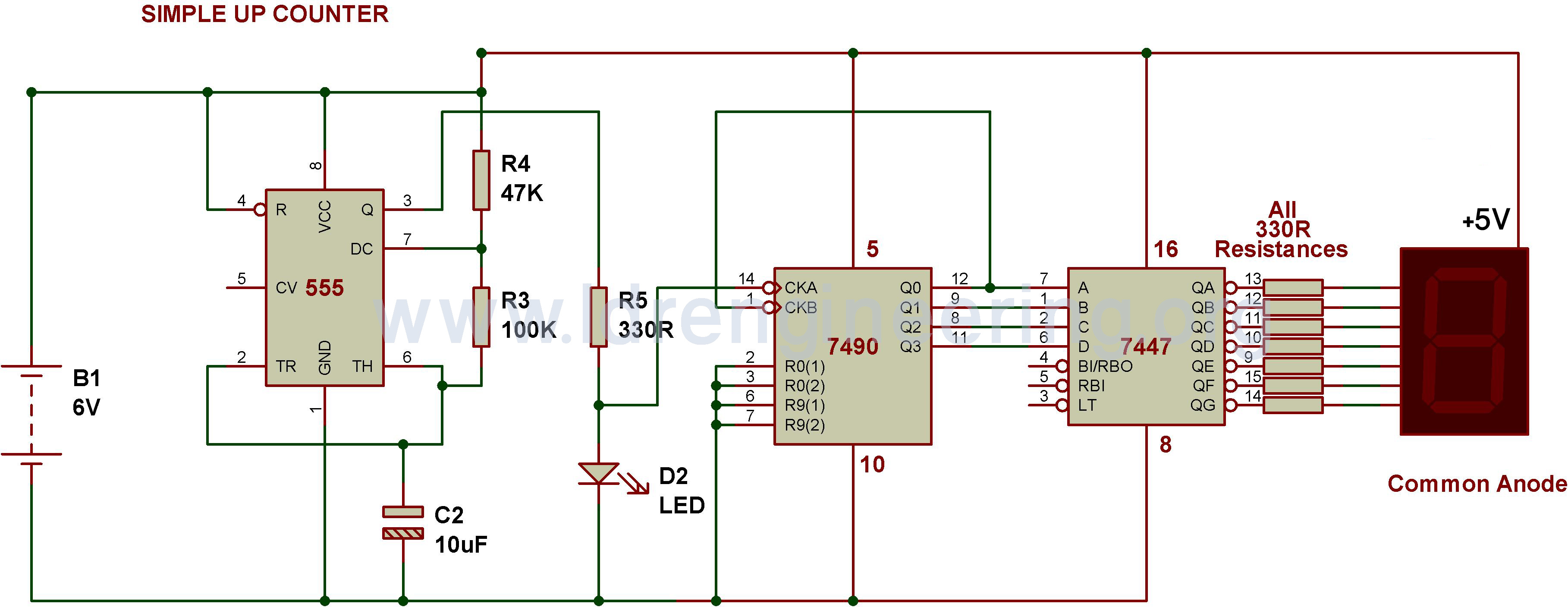555 timer wiring diagram 2000 chevy silverado digital stopwatch circuit using ic cd 4033 7 segment counter best library