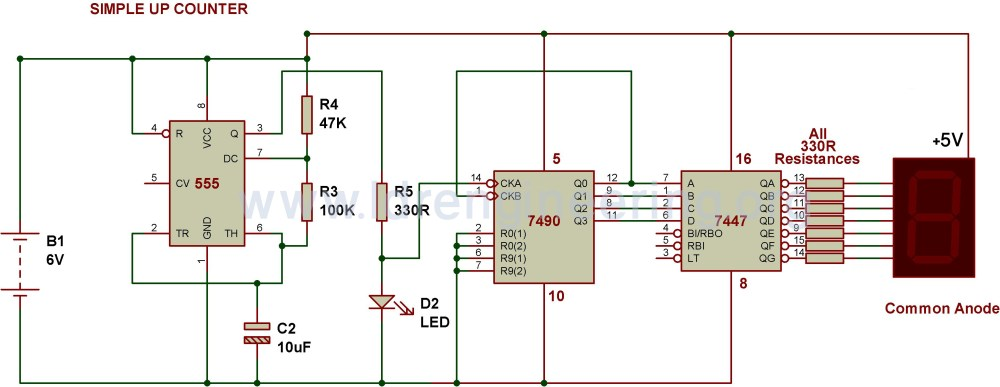 medium resolution of 7 segment counter circuit diagram