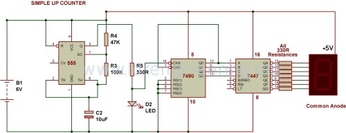 small resolution of 7 segment counter circuit diagram