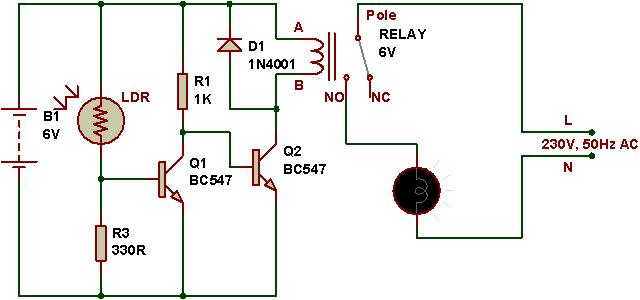 Simple Ac Light Bulb Flasher Circuit Schematic Diagram
