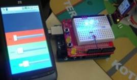 Multi color Lamp using Amarino, Android and Arduino