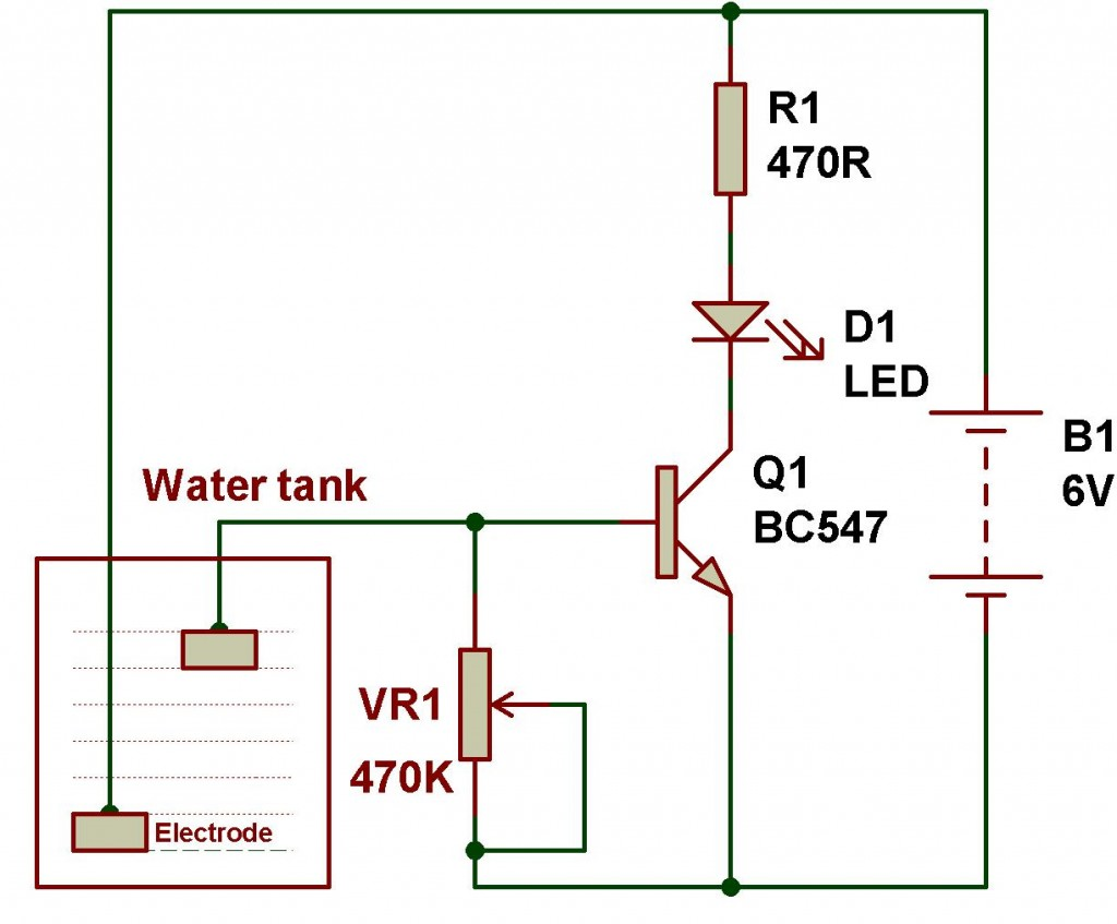 water level indicator project with circuit diagram rheem air conditioner thermostat wiring ldr engineering buildcircuit electronics