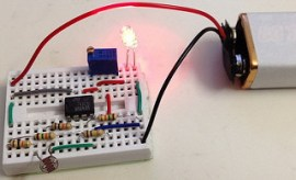 Experiments with 741- Operational amplifier