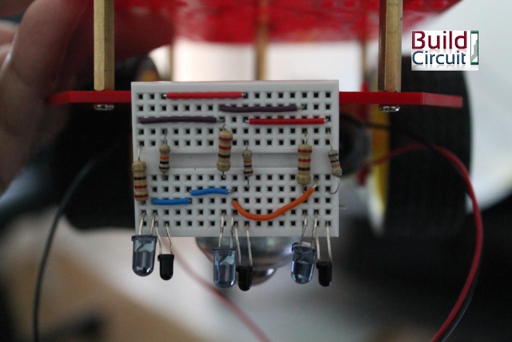 Easy steps for making a line following robot using Infrared LED