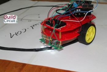 LDR based line following robot using Arduino and Ardumoto