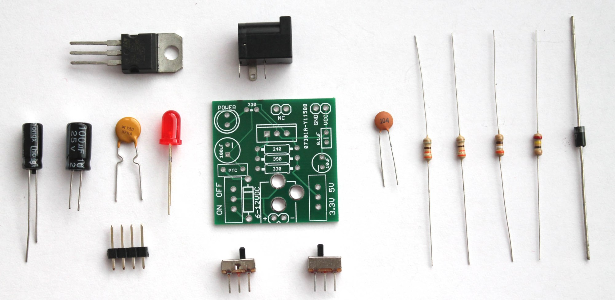 hight resolution of buildcircuit s breadboard power supply diy kit
