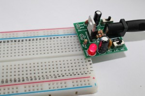 Step 14- 2 Powering up the breadboard power supply