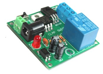 How to connect the relay module to the popular clap switch