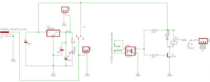 schematic relay module for clap switch
