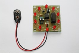 Step 9- Put NE555 and CD4017 chips over the DIL socket