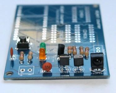 Step 9- Solder TSOP4838 infrared sensor