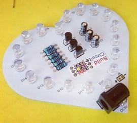 DIY Kit 2- Heart Shaped Multicolor LEDs Flasher DIY Kit