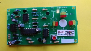 DIY KIT 47- NE555 based Traffic Signal Light Simulator