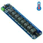 TOSR08-T - 8 Channel USB/Wireless 5V Relay Module (Temperature Sensor Support )