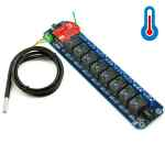 TOSR08-T - 8 Channel Relay Wi-Fi Remote Control Kit - DS18B20