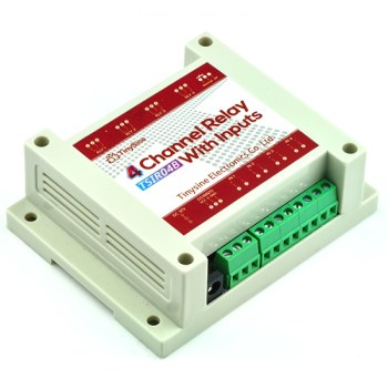 TSIR04B - 4 Channel Outputs- 4 optically Isolated Inputs Wi-Fi Smartphone Relay