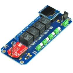 TSIR04 - 4 Channel Outputs- 4 optically Isolated Inputs Wi-Fi Smartphone Relay