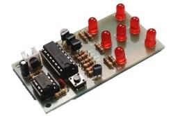 DIY KIT 66- Basic electronic dice with 7 LEDs
