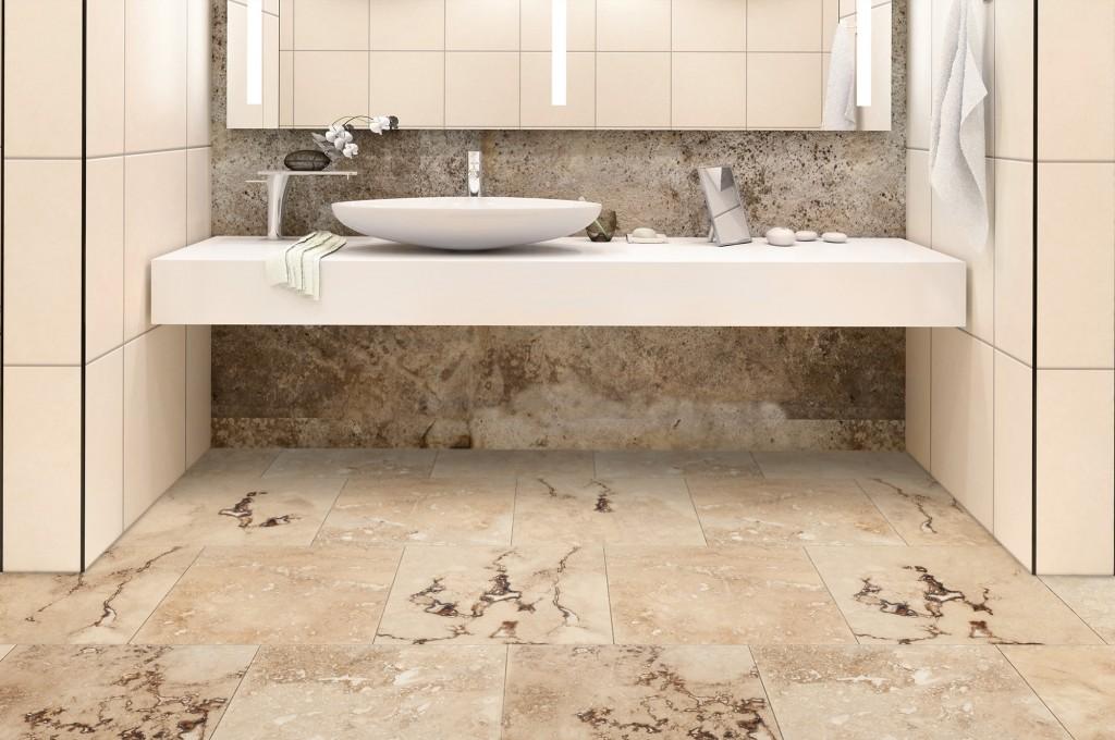 travertine tile for the bathroom