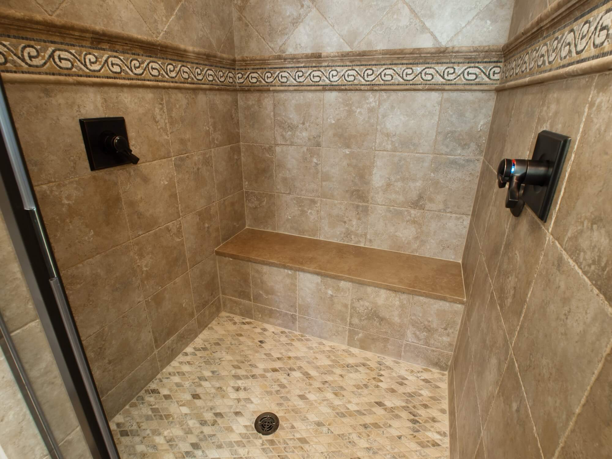 travertine shower care cleaning