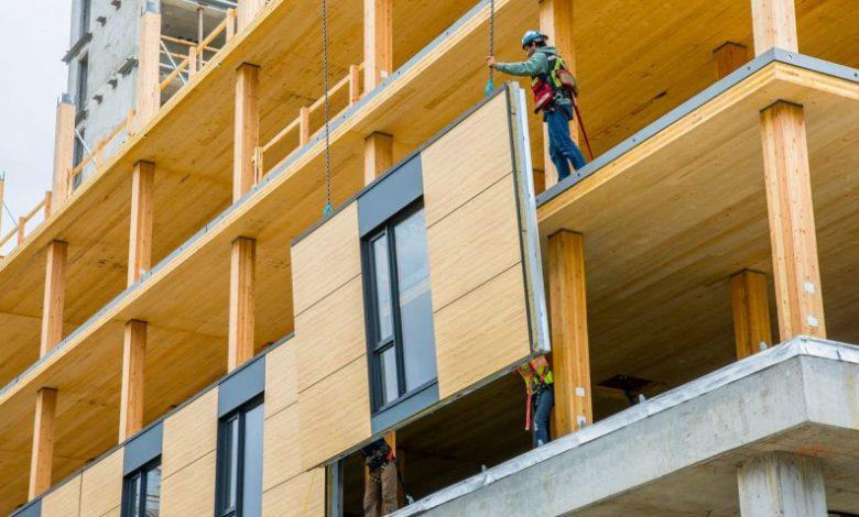 gedung bertingkat dari kayu