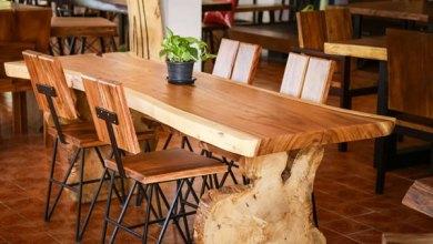 harga meja kayu trembesi