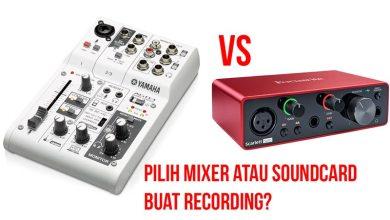 perbedaan mixer dengan soundcard