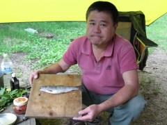B沢の堰堤下でゲットした岩魚