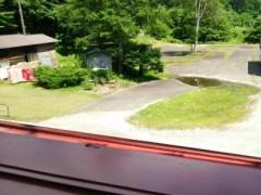 七入オートキャンプ場管理棟2階からの眺め