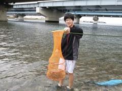 江戸川放水路河口でハゼ釣り